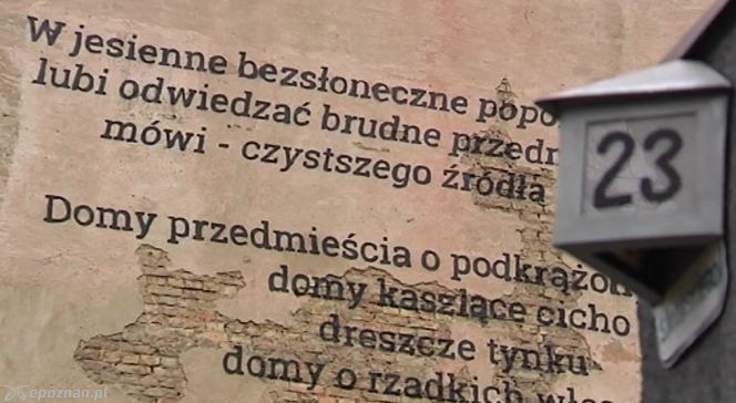 Poznańskie Kamienice Ozdobione Poezją Wiersze Pojawiły Się